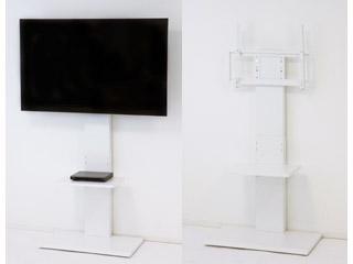 壁に穴を開けずにTVを壁掛風に置ける! Wand/ワンド 壁掛け風テレビ台