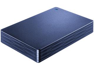 I・O DATA アイ・オー・データ USB3.1 Gen 1(USB3.0)対応ポータブルハードディスク カクうす Lite 2TB ミレニアム群青 HDPH-UT2DNVR