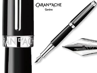CARAN dACHE/カランダッシュ 【Leman/レマン】エボニー ブラック 万年筆 M 4799-782