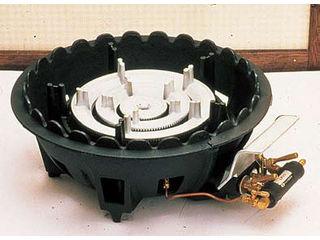 ※こちらはLPガス専用になります。 ASAHISUNRED/アサヒサンレッド 【代引不可】【as】ハイカロリーショートコンロ三重型/MD-318P P付 LPガス