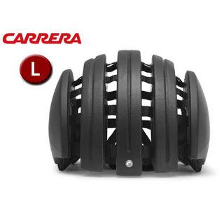 【nightsale】 CARRERA/カレラ FOLDABLE LEATHER シティバイクヘルメット 【Lサイズ(M/L)】 (Black Leather)