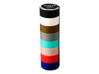 日本産 甘さを控えた 販売 大人っぽいトーンの マステ です MARK'S マークス 8巻セット MST-MKT182S ベーシック カラーミックス マスキングテープ
