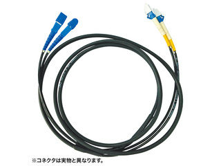 サンワサプライ タクティカル光ファイバケーブル(20m・ブラック) HKB-FCFCTA1-20