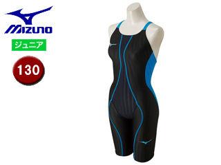 mizuno/ミズノ N2MG8430-91 FX-SONIC ハーフスーツ ジュニア 【130】 (ブラック×ターコイズ)