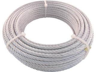 TRUSCO/トラスコ中山 【代引不可】JIS規格品メッキ付ワイヤロープ (6X24)Φ12mmX50m JWM-12S50
