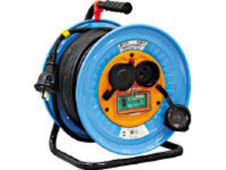 NICHIDO/日動工業 電工ドラム 防雨防塵型三相200V アース漏電しゃ断器付 30m/DNWEB33020A