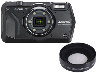 RICOH/リコー 【納期未定】WG-6(ブラック)+DW-5 ワイドコンバージョンレンズセット【wg6set】