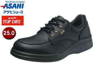 ASAHI/アサヒシューズ AF39401 TDY39-40 トップドライ メンズ カジュアル 防水 シューズ 【25.0】 (ブラック)