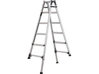 ALINCO/アルインコ 【代引不可】伸縮脚付きはしご兼用脚立(踏ざん幅60mm・各脚441mm伸縮) PRT120FX