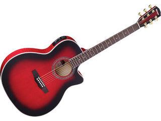 Morris/モーリス R-601 SR (シースルーレッド) ソフトケース付き! エレアコギター(R601SR) 【アコギ】 【morris201501】