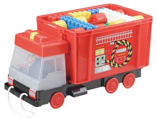 消防車凸凹ブロック51ピース  MA-50010