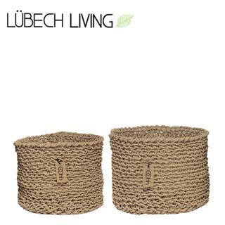 LubechLiving/ルベックリビング 鉢カバーペーパーバスケット2cm(ナット 2セット)