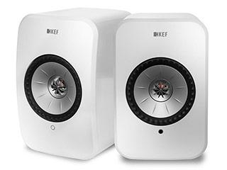 KEF JAPAN LSX(グロスホワイト) ワイヤレススピーカー ペア ハイレゾ対応/アップル エアプレイ2対応/イネーブルドスピーカー/フルワイヤレス 【当店のKEF製品は国内正規代理店品です】