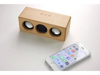 ヨシモク SOUNDFLY(サウンドフライ)L Bluetooth 木製ワイヤレススピーカー ブナ SF-L BE
