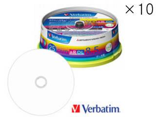 Verbatim/バーベイタム 【10個セット】データ用DVD+R DL 8.5GB(2.4-8倍速対応) スピンドルケース 25枚 DTR85HP25V1