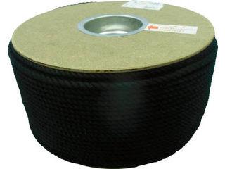 yutaka/ユタカメイク ポリエステルロープ ドラム巻 5φ×200m 黒 PRS-91