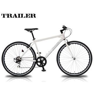 【nightsale】 TRAILER/トレイラー TR-C7003-WH 700Cクロスバイク 6段変速 (ホワイト) メーカー直送品のため【単品購入のみ】【クレジット決済のみ】 【北海道・沖縄・離島不可】【日時指定不可】商品になります。