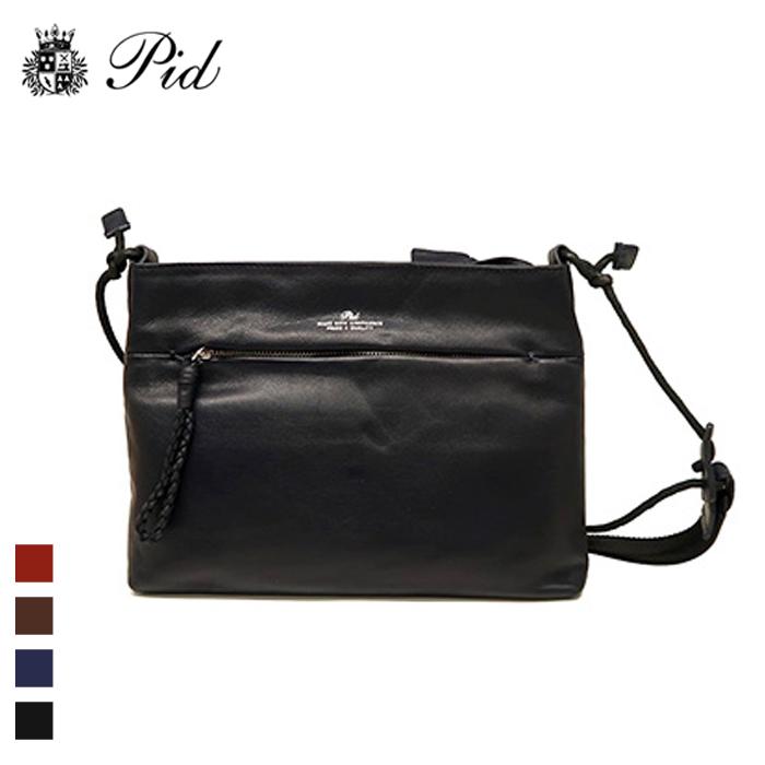 PID/ピー・アイ・ディー PAQ203 メンズ レザーショルダーバッグ(ブラック)