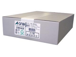 A・one/エーワン レーザープリンタラベル 24面 500シート入 28649