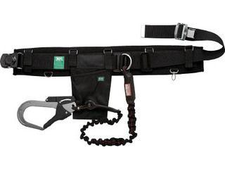 KIYO/基陽 KH 補助帯付安全帯 じゃばら式 タフアルミ 自在環 アロッキー 黒/緋 HJAWKL-K