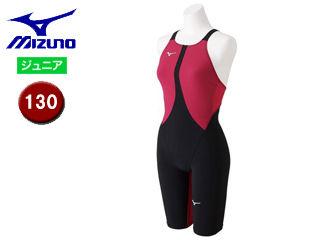 mizuno/ミズノ N2MG8411-57 MX-SONIC02 ハーフスーツ ジュニア 【130】 (ブラック×ローズ)