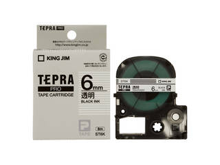 6mm透明に黒文字 初回限定 KINGJIM キングジム ST6K 定番の人気シリーズPOINT ポイント 入荷 透明 テプラPRO用テープ 黒文字