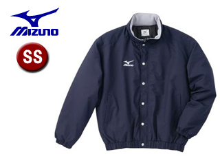 mizuno/ミズノ A60JF962-14 フード収納式 中綿ウォーマーキルトシャツ (ネイビー) 【SSサイズ】