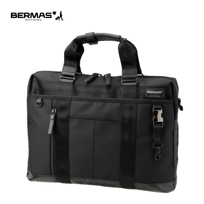 BERMAS/バーマス 60071-BK BAUER ビジネスバッグ 1層ブリーフ (ブラック)