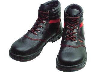 Simon/シモン 安全靴 編上靴 SL22-R黒/赤 23.5cm SL22R-23.5