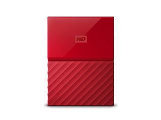 WESTERN DIGITAL ウエスタンデジタル USB3.0 ポータブルハードディスク 4TB My Passport マイパスポート WDBYFT0040BRD-WESN レッド