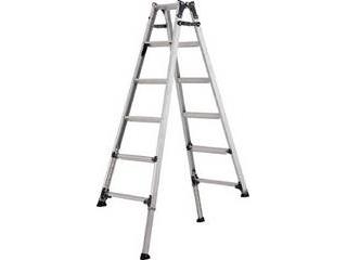 ALINCO/アルインコ 【代引不可】伸縮脚付きはしご兼用脚立(踏ざん幅60mm・各脚441mm伸縮) PRT210FX