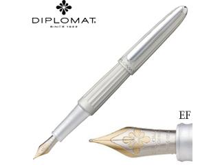 DIPLOMAT/ディプロマット 万年筆■アエロ【マットシルバー】■14Kペン先 【EF/極細字】(1957210)