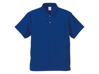 日本限定 United Athle ユナイテッドアスレ 当店一番人気 4.1オンス M コバルトブルー ドライポロシャツ591001