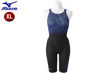 mizuno/ミズノ N2MG8746-92 ストリームアクティバ ハーフスーツ オープン レディース 【XL】 (ブラック×ブルー)