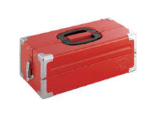 TONE/トネ ツールケース(メタル) V形2段式 433X220X160mm レッド BX322S