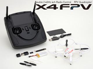 G-FORCE/ジーフォース 【X4 FPV】映像・操縦2.4GHz帯通信ドローン GB351 ホワイト