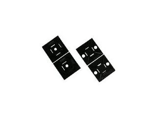 Panduit/パンドウイットコーポレーション マウントベース アクリル系粘着テープ付き 耐候性黒 1000個入 ABM1M-AT-M0