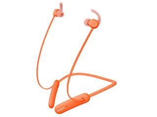 SONY ソニー WI-SP510-D(オレンジ) ワイヤレスステレオヘッドセット 重低音/防水IPX5相当/マイク通話対応/Bluetooth/最長15時間のロングバッテリー