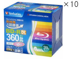 Verbatim/バーベイタム 【10個セット】BD-R(Video)片面2層 260分 6倍速 5mmスリム20P VBR260RP20V2