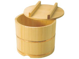 さわら製 飯枢(上物)のせ蓋型 24cm