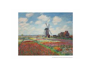 プリモアート モネ「オランダのチューリップ畑」  A3_84チューリップ畑