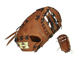 HI-GOLD/ハイゴールド KKG-114F 一塁手用硬式用ミット 心極和牛 (ブラック×ブラック) 【右投げ用】【PRO-F1】
