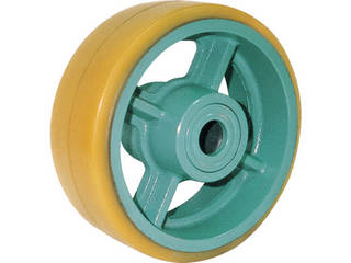 YODONO/ヨドノ 鋳物重荷重用ウレタン車輪ベアリング入 UHB150X75