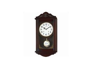 RHYTHM/リズム時計 4MJA01RH06 【アタシュマンR】 クオーツ柱時計/報時音4タイプ選択式/飾り振子付