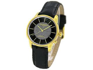 J.HARRISON カボジョン1石天然ダイヤモンド付きソーラー電波婦人用腕時計JH-1895LGB