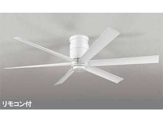 ODELIC ■【軽量】WF237 LEDシーリング DCモーターファン 器具本体 6枚羽根 (白) 【直付専用】