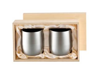 チタン2重ロックカップ250mlペアセット(木箱入) B4173596