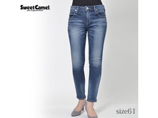 Sweet Camel/スウィートキャメル ナローストレートデニム【S4中色USED】サイズ61■本格ビンテージ加工■(SC5322)