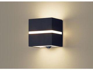 Panasonic/パナソニック LGWC80355LE1 LEDポーチライト オフブラック×オフブラック 【電球色】【明るさセンサ付】【壁直付型】