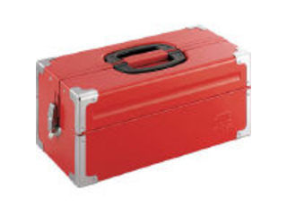 TONE/トネ ツールケース(メタル) V形2段式 433X220X195mm レッド BX322